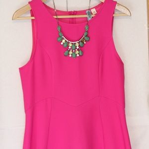 Francesca's Collection Pink Fit and Flare Dress
